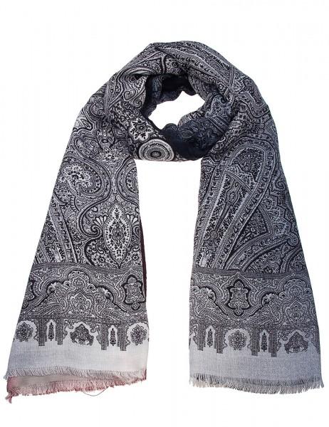 -50 % SALE Leslii Damen-Schal Orient Muster 100% Viskose 180cm x 90cm Blau 900317135