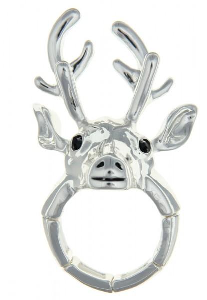 -50% Sale! Leslii Ring Trachten Hirsch in Silber