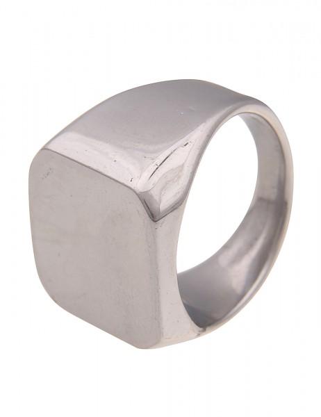 Leslii Damen-Ring Statement-Ring silberner Siegel-Ring Statement-Schmuck breiter Modeschmuck-Ring in