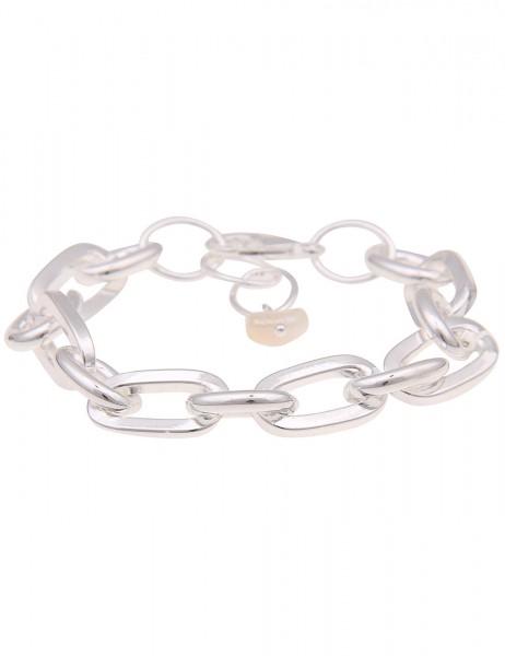 Leslii Damenarmband Glieder-Armband Statement-Armband silbernes Modeschmuck-Armband Armschmuck 19cm