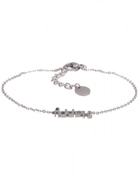 Leslii 4Teen Damenarmband Happy aus Metalllegierung Länge 16cm in Silber