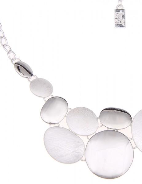 Leslii Halskette Formen Mix Silber | kurze Damen-Kette Mode-Schmuck | 44cm + Verlängerung