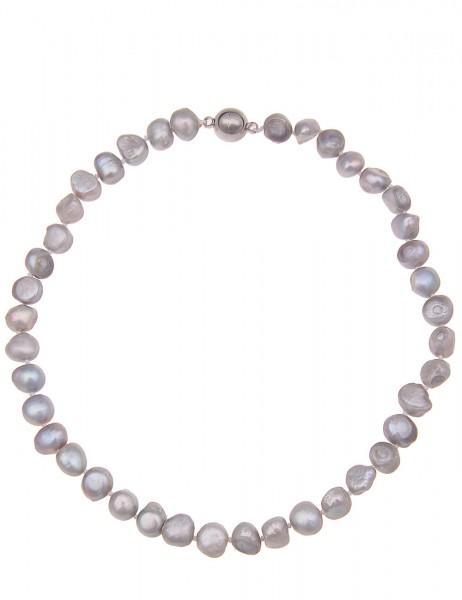 Perlenkette Bling grau - 01/silber