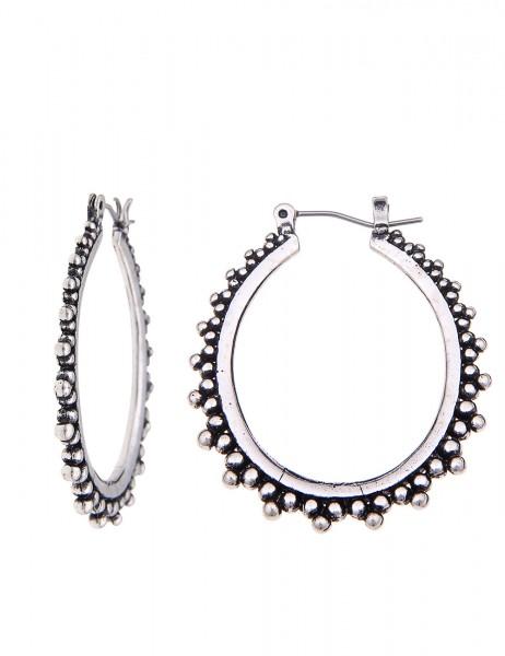 -70% SALE Leslii Ohrringe Creolen Kugeln Antik Silber | Trendige Damen-Ohrringe | Mode-Schmuck | Lä