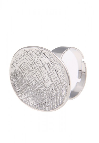 -70% SALE Leslii Ring Oval Look Silber | Trendiger Damen-Ring | Mode-Schmuck | Größe verstellbar