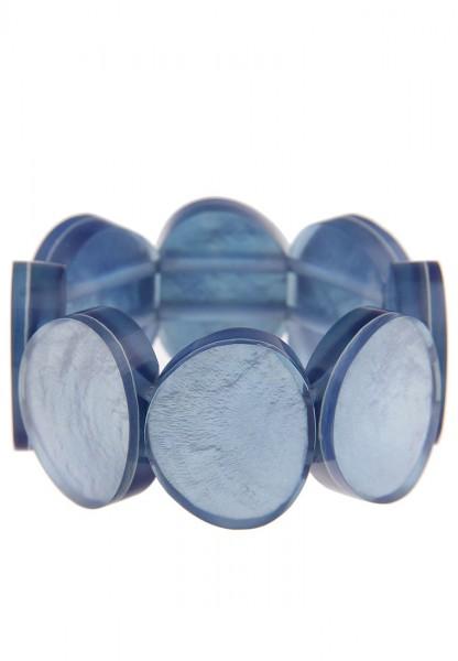 Leslii Armband Capiz-Muschel Blau | modisches Damen-Armband Mode-Schmuck | flexibel