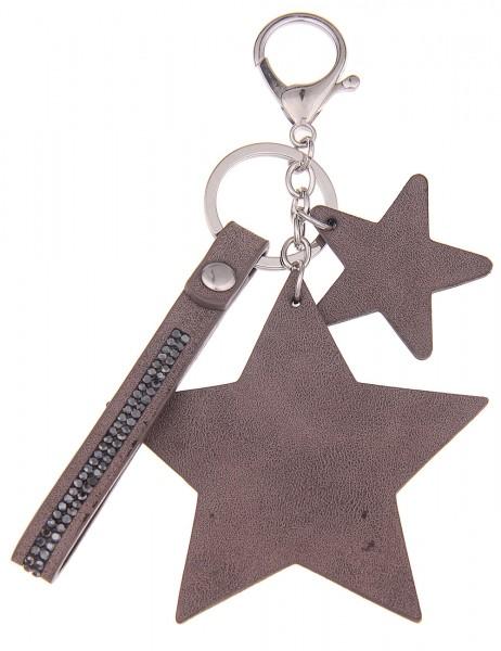 Sale Schlüsselanhänger Stern - 08/braun