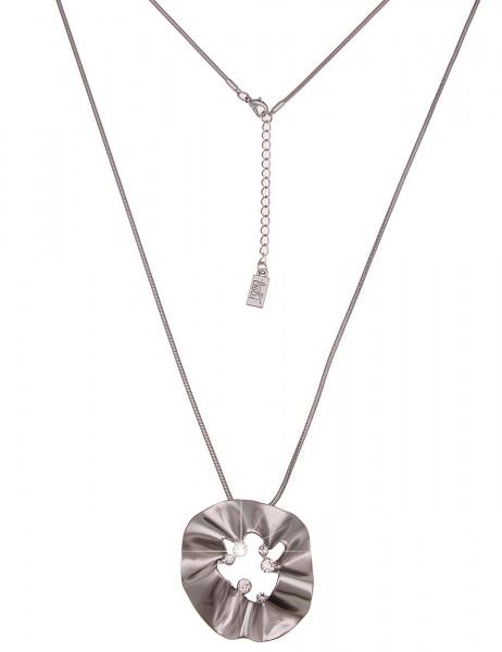 Leslii Damenkette Glitzer Raffung aus Metalllegierung mit Strass Länge 83cm in Silber