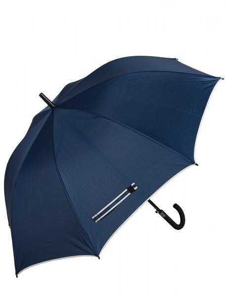 -50% SALE Leslii Regenschirm Stockschirm Classic Blau | Damen Mode-Accessoire | Regen-Schirm Ø 126cm