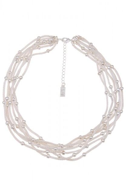 Kurze Halskette Statement Balls Silber