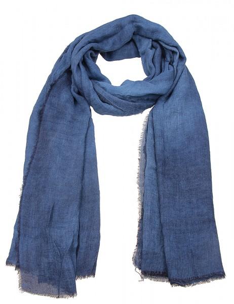 -50% SALE Leslii Damen-Schal Uni Look 50% Viskose, 50% Polyester 180cm x 74cm Dunkelblau 900217143