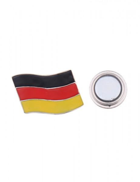 -50% SALE Leslii Magnet-Pin Anstecker Fußball Deutschland-Fahne Metalllegierung 2cm x 3cm 270116304