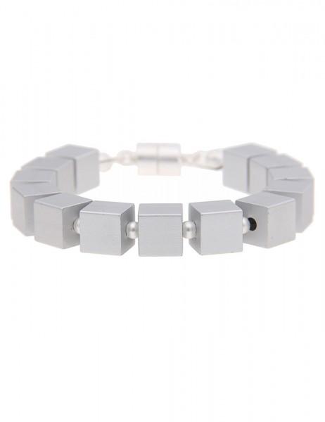 -70% SALE Leslii Damen-Armband Premium Quality Würfel Metallegierung 21cm Magnet-Verschluss 26011506