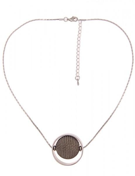 Leslii Damen-Kette Ketten-Kugel Silber Gold Metalllegierung 46cm + Verlängerung 210317099