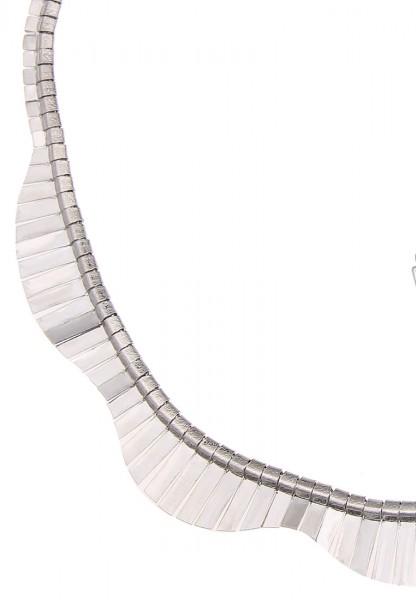 -70% SALE Leslii Halskette Silver Wave Silber | kurze Damen-Kette Mode-Schmuck | 45cm + Verlängerung