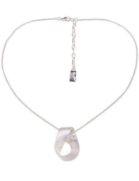 Leslii Damenkette Victoria aus Metalllegierung Länge 42cm in Silber Matt