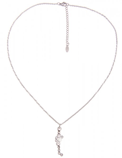 -70% SALE Leslii Halskette Glitzer Filigran Silber | kurze Damen-Kette Mode-Schmuck | 46cm + Verläng