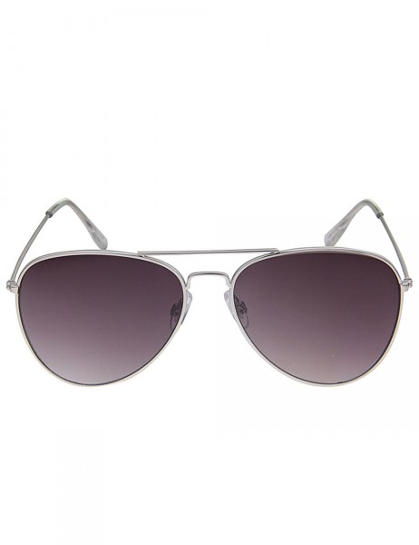 Leslii Sonnenbrille Damen Piloten-Brille Doppelsteg silberne Designerbrille Sunglasses in Silber