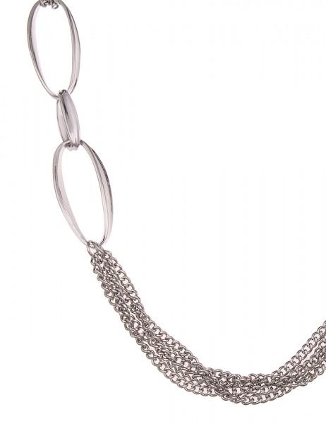 -50% SALE Leslii Halskette Statement Glieder Silber | lange Damen-Kette Mode-Schmuck | 88cm + Verlän