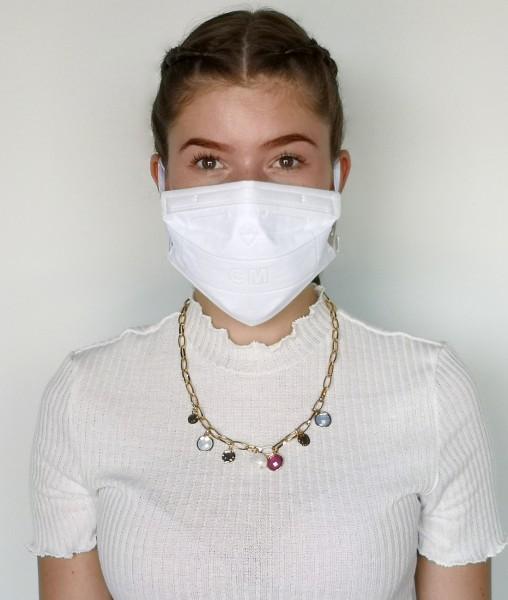 Leslii N95 Maske Einwegmaske Atemschutz-Maske in Weiß
