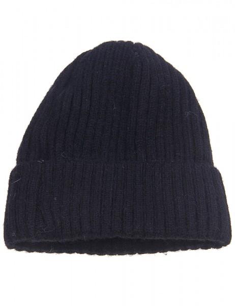 Leslii Winter-Mütze Rippstrick Fleece-Futter 100% Viskose Einheitsgröße Schwarz 920417232