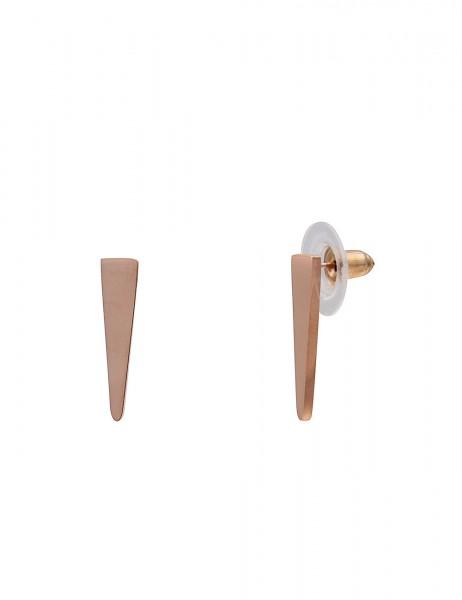 Leslii Damenohrringe Ohrstecker Spitze aus Metalllegierung Größe 2cm in Rosé