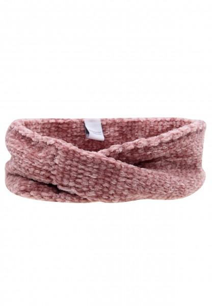 Leslii Damen Stirnband Winter Strickmuster aus Polyester Größe One Size in Rosa