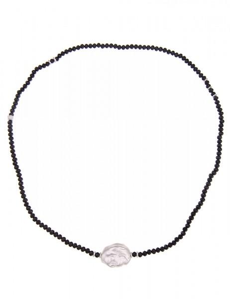 Kurze Kette Glasperlen schwarz - 09/schwarz