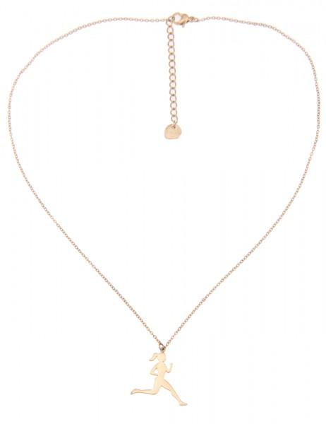 Leslii Damen-Kette Joggerin Gold Metalllegierung 42cm + Verlängerung 210216314
