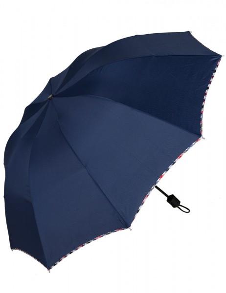 -50% SALE Leslii Regen-Schirm Rauten-Muster Blau | Damen-Schirm Mode-Accessoire | Ø 110cm
