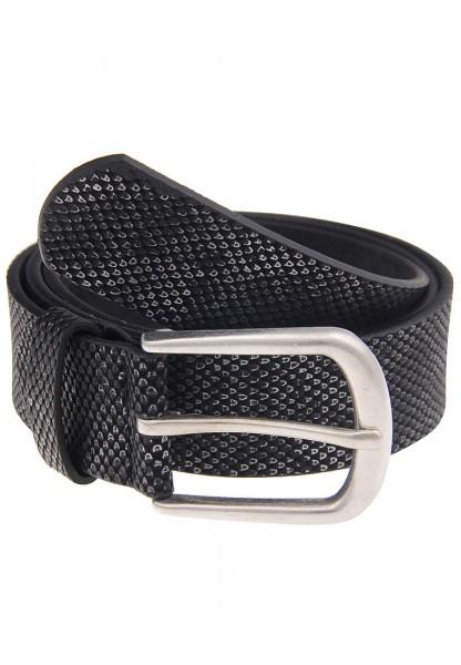Leslii Schlangenmuster Schwarz Silber | Trendiger Gürtel | Damen Mode-Accessoire | 3,2cm breit