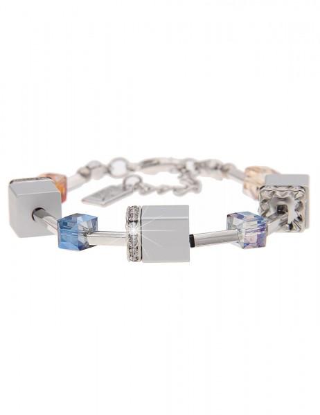 -50% SALE Leslii Damen-Armband Premium Quality Glitzer Würfel Strass-Steine 19cm + Verlängerung 2601