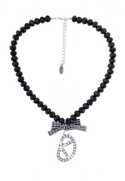 LAST CHANCE Halskette Alpenrock Brezel Schwarz