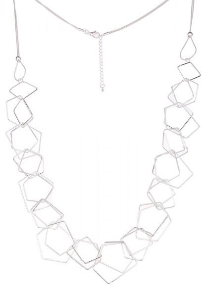 Leslii Simple Shape Silber | Trendige lange Kette | Damen Mode-Schmuck | 85cm + Verlängerung