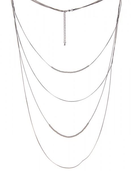 -50% SALE Leslii Halskette Party Style Silber | lange Damen-Kette Mode-Schmuck | 90cm + Verlängerung