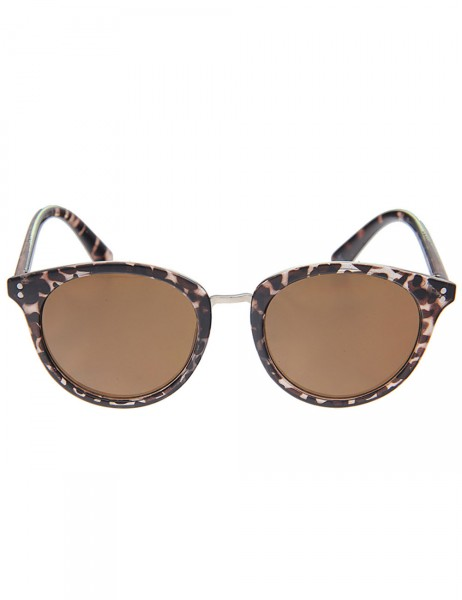-50% SALE Leslii Sonnenbrille Damen Havana Classic Horn-Look Designer-Brille Sunglasses Braun