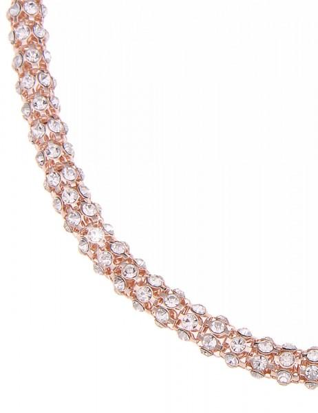 -70% SALE Leslii Halskette Glitzer Celebration Rose | kurze Damen-Kette Mode-Schmuck | 45cm mit Magn