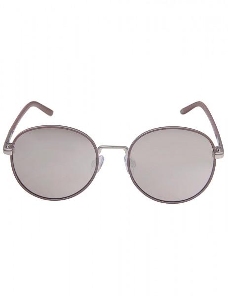 Leslii Sonnenbrille Damen New Style Piloten-Look Designerbrille Sunglasses Silber Grau aus Metall