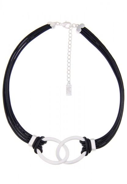 Kurze Halskette Simple silber schwarz