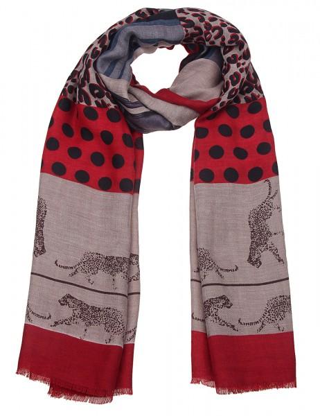 Leslii Damen-Schal Leoparden Muster Leo-Schal Scarf-Print Musterschal weicher Herbstschal Größe 180c