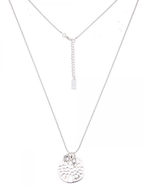 Leslii Damen-Kette Glanz-Baum Silber Metalllegierung 83cm + Verlängerung 220115864