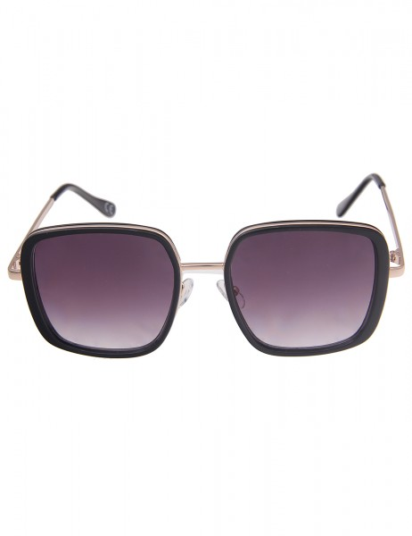 Leslii Sonnenbrille Damen Square-Look schwarze Designerbrille eckige Statement-Brille Sunglasses in
