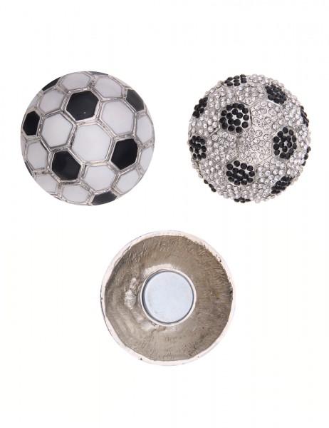 -50% SALE Leslii Magnet-Pin Wende-Anstecker Fußball Deutschland Strass Metalllegierung Ø 3,1cm 27011