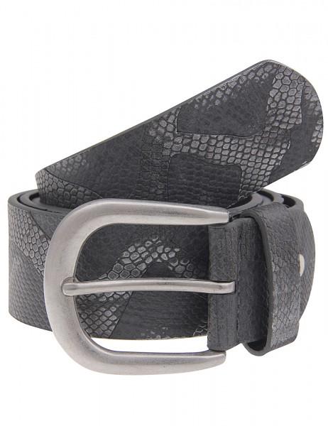 -50% SALE Leslii Gürtel Schlangen-Muster Silber Grau | Damen-Gürtel Mode-Accessoire | Breite 3,7cm