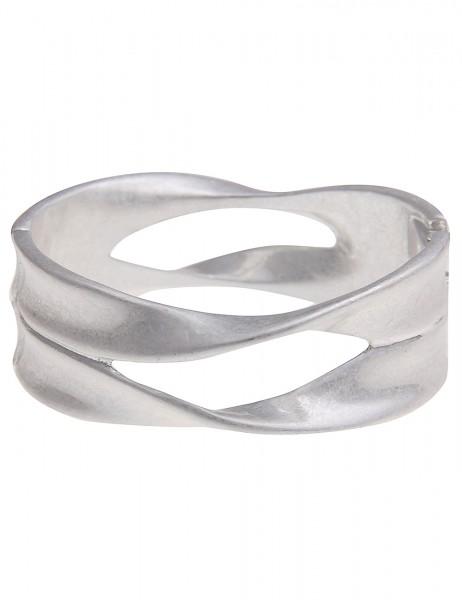 Leslii Damen-Armband Armreif Statement Look Silber Metalllegierung 19cm Verschluss seitlich 26011643