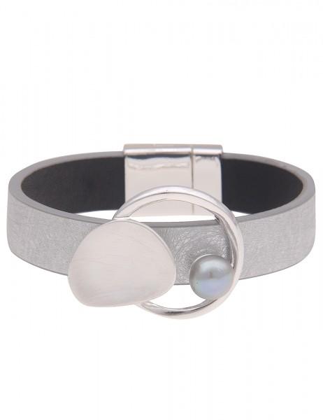 Leslii Damen-Armband | Grau mit Magnetverschluss