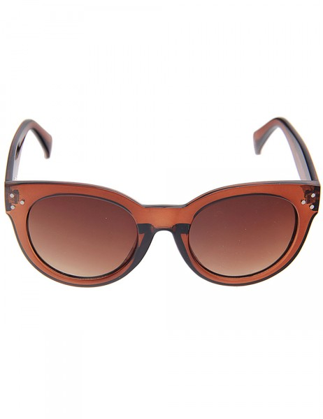 -50% SALE Leslii Sonnenbrille Damen Modern Cateye Katzenaugen braune Designer-Brille Sunglasses