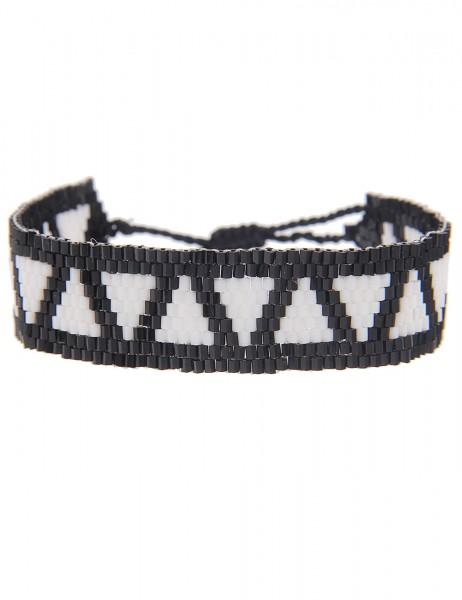 Sale Armband Web Muster Dreieck - 12/weiss