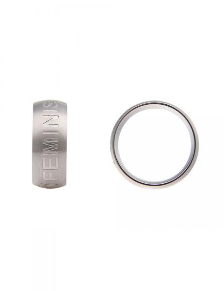 -50% SALE Leslii Damen-Ring Premium Quality Feminist Edelstahl Größe 17mm, 18mm oder 19mm 250115711