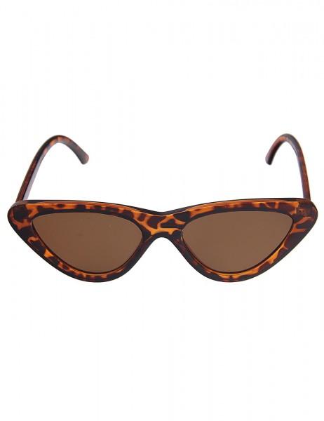 Leslii Sonnenbrille Damen Butterfly-Brille Designerbrille Horn Braun braune Sonnenbrille Sunglasses